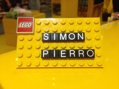 My name on a LEGO board